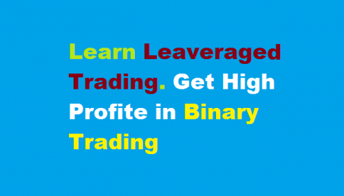 Leverage mechanism and risk in binary options trading